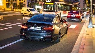 Download Slammed BMW M4 F82 w/ Custom Exhaust - Drifts, Revs & Accelerations ! Video