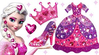 Download Learn Colors Play Doh Barbie Disney Princess Frozen Elsa Sparkle Shoes High Heels Dress Crown Toys Video