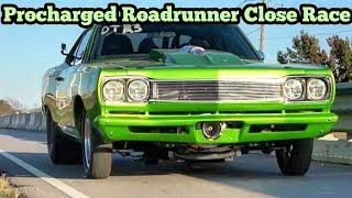 Download Procharged RoadRunner vs Twin Turbo Camaro Close Race Video