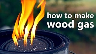 Download How To Make Wood Gas Biofuel (and an experimental gas collection method) Video