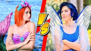 Download Makeup Challenge! 10 DIY Mermaid Makeup vs Fairy Makeup Video