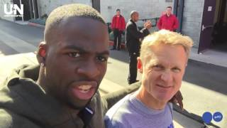 Download Warriors Draymond Green Hangs With Steve Kerr After Practice Video