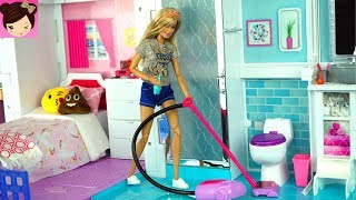 Download Barbie House Cleaning Morning Routine - Grocery Store Supermarket Toy Shopping Video