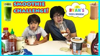Download SMOOTHIE CHALLENGE! Super Gross Smoothies for Kids with Ryan ToysReview Family Fun Activites Video