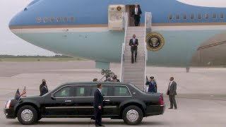 Download President Obama Arrives at MacDill AFB in Air Force One (Sep, 2014) Video