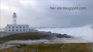 Download Biggest Waves in the world today, wash out South Lighthouse - Fair Isle, Shetland. Video