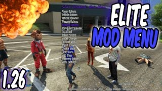 Download GTA 5 Online - Elite Mod Menu 1.26! TU26 [RGH/JTAG] Video