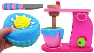 Download Squishy Sponge Cake and Mixer Playset for Children Learn Colors Video