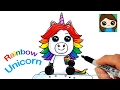 Download How to Draw a Rainbow Unicorn Easy Video