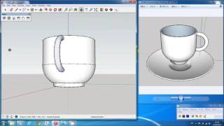 Download Sketchup Tutorial: Coffee Cup and Plate Video