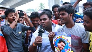 Download Vijay arrives at Kasi theater wearing a mask to celebrate Kaththi release Video