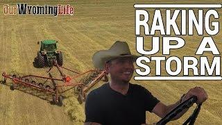 Download Haying - Raking Hay with the John Deere 4055 - Ranching & Farming Video