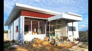 Download รีวิว สร้างบ้านหลังน้อยกลางทุ่งนา ในสไตล์โมเดิร์นแบบลูกทุ่งๆ หลังคาเพิงหมาแหงน Video
