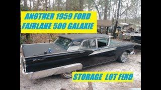 Download 1959 FORD GALAXIE FAIRLANE 500 STORAGE LOT FIND Video