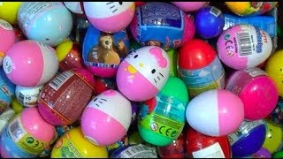 Download 250 Kinder surprise and Surprise eggs!!! Cars THOMAS Spider Man TOY Story MARVEL Heroics HELLO KITTY Video