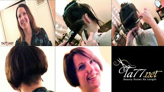 Download Free TA77 video - Brianna SX - Brianna Gets A Short Bob w/ Buzzed Nape Video