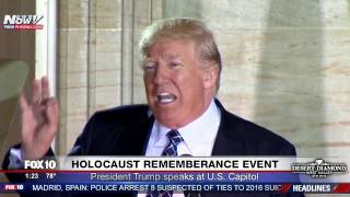 Download FNN: Trump Speaks Against Anti-Semitism & Holocaust Deniers at Holocaust Remembrance Event - FULL Video