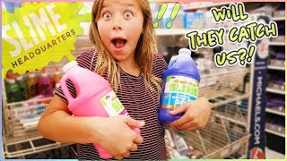 Download 24 HRS OVERNIGHT MAKING SLIME IN THE SLIME STORE!! Video