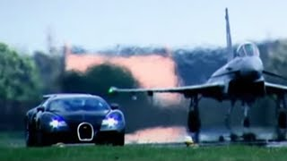 Download Bugatti Veyron Vs Euro Fighter Typhoon: Drag Race (HQ) | Top Gear | BBC Video