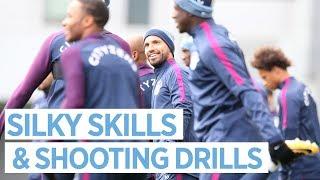 Download SILKY SKILLS & SHOOTING DRILLS   Man City Training Video