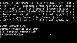 Download Linux Command Line - Pipes and Redirection Video