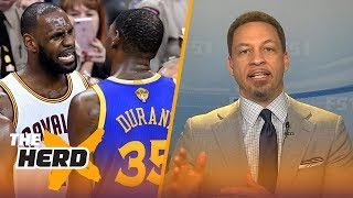 Download Chris Broussard on Kevin Durant pacing to have a better career than LeBron James | NBA | THE HERD Video