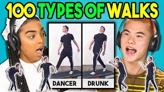 Download TEENS REACT TO 100 TYPES OF WALKS Video