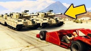 Download GTA 5 EXPERIMENT - 1000 TANKS VS 1 RAMP CAR! (GTA 5 Funny Moments) Video