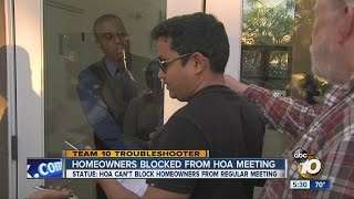 Download Residents blocked from entering HOA meeting Video