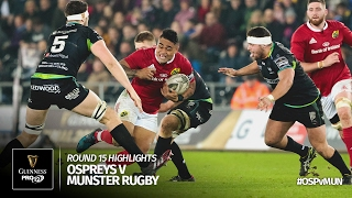Download Round 15 Highlights: Ospreys Rugby v Munster Rugby | 2016/17 season Video