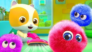 Download Baby Kitten Cleans the Dust | Cute Dust Song | Nursery Rhymes | Kids Songs | BabyBus Video