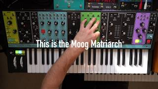 Download Ambient jam with Moog Matriarch and Subsequent 37, Strymon Big Sky, Eventide Space and Timefactor Video