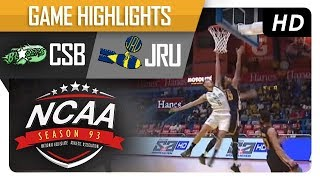 Download CSB Blazers vs. JRU Heavy Bombers | NCAA 93 | MB Game Highlights | August 18, 2017 Video
