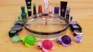 Download Pink vs Purple vs Green - Mixing Makeup Eyeshadow Into Slime! Satisfying Slime Video Video