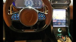 Download Koenigsegg Regera interior at Monterey Car Week Show Video