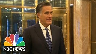 Download Mitt Romney: 'Wonderful' Evening With Donald Trump | NBC News Video