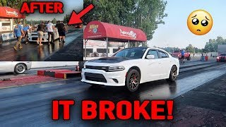 Download CHARGER HELLCAT BROKE AT THE DRAG STRIP! *HERE'S HOW* Video