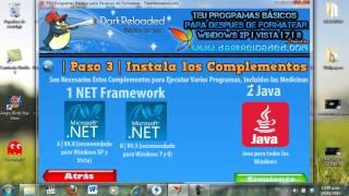 Download Teu Programas Básicos Para Despues De Formatear Windows XP,VISTA,7,8 Video
