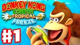 Download Donkey Kong Country: Tropical Freeze - Gameplay Walkthrough Part 1 - World 1: Lost Mangroves 100% Video