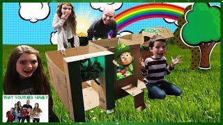 Download Leprechaun Billionaire Box Fort Mansion / That YouTub3 Family Video