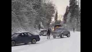Download Rogue River Highway Grants Pass winter 2013 Fire Truck Slides Video