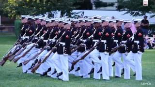Download Watch The Amazing Marine Corps Silent Drill Platoon Perform at the Sunset Parade Video