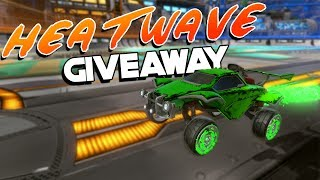 Download Rocket League Heatwave Giveaway At 4k Subs || PC Gameplay Video