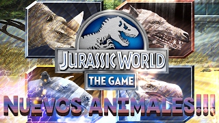 Download 4 NUEVOS ANIMALES PARA JURASSIC WORLD THE GAME!!! - NOVEDADES!!! Video