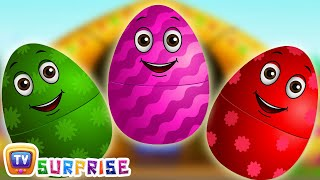 Download Surprise Eggs Nursery Rhymes | Old MacDonald Had A Farm | Learn Colours & Farm Animals | ChuChu TV Video
