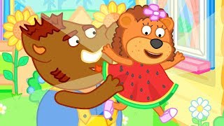 Download Lion Family Mother bought new Water Melon Dress Cartoon for Kids Video