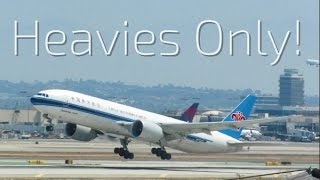 Download HEAVIES ONLY! - 18+ Minutes of Planespotting at Los Angeles LAX Video