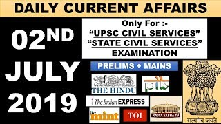 Download 2 July 2019 Current Affairs Editorials MCQ THE HINDU INDIAN EXPRESS PIB NEWS UPSC IAS PSC EXAM Video