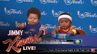 Download Press Conference With Baby Steph Curry and Baby LeBron Video