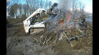 Download Burning a brush pile Video